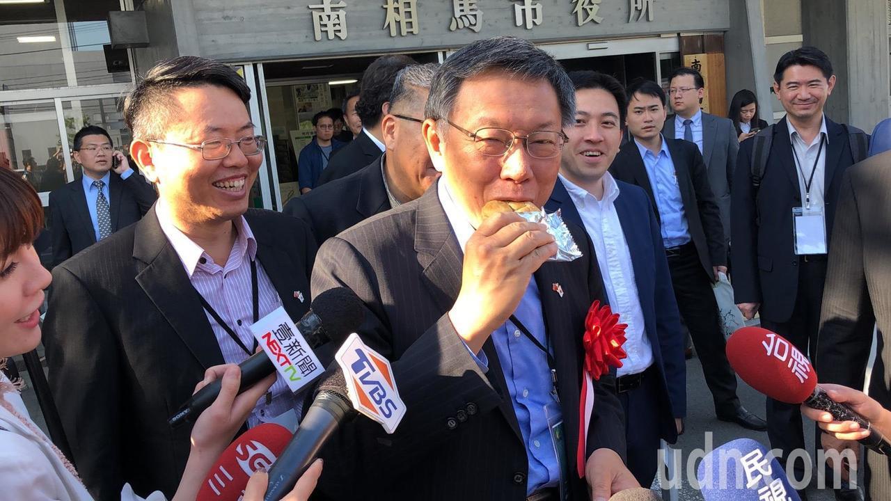 台北市長柯文哲訪日第三天,下午前進福島核災返還困難區域,曾對核食問題直言「科學問...