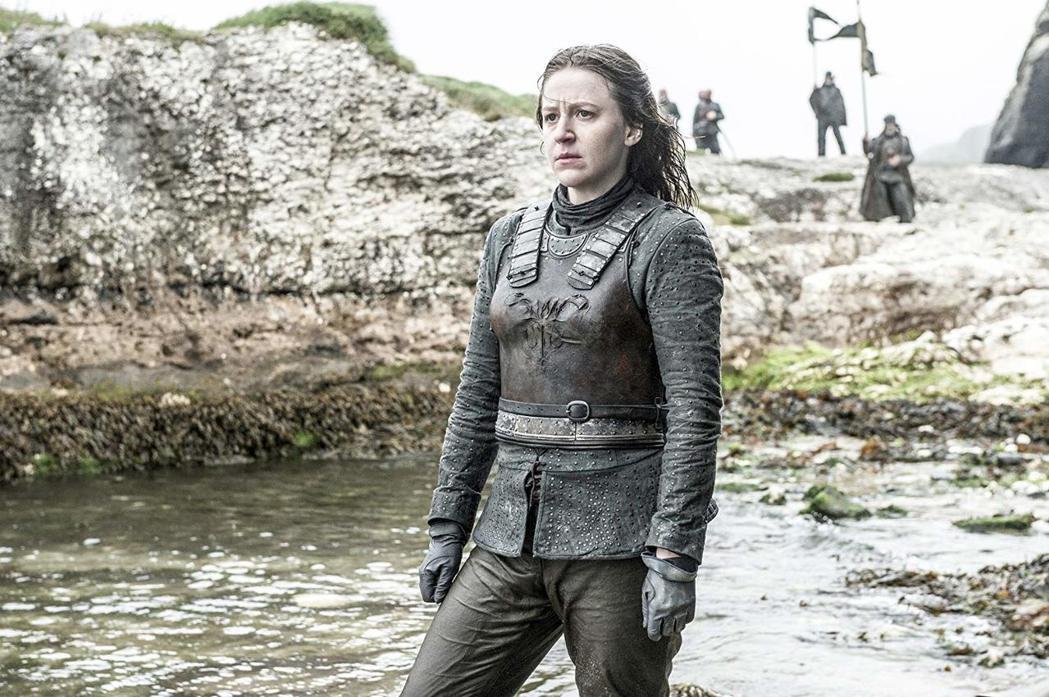 潔瑪魏倫扮演的亞拉,在「冰與火之歌:權力遊戲」中不讓鬚眉、很有氣概。圖/HBO提...
