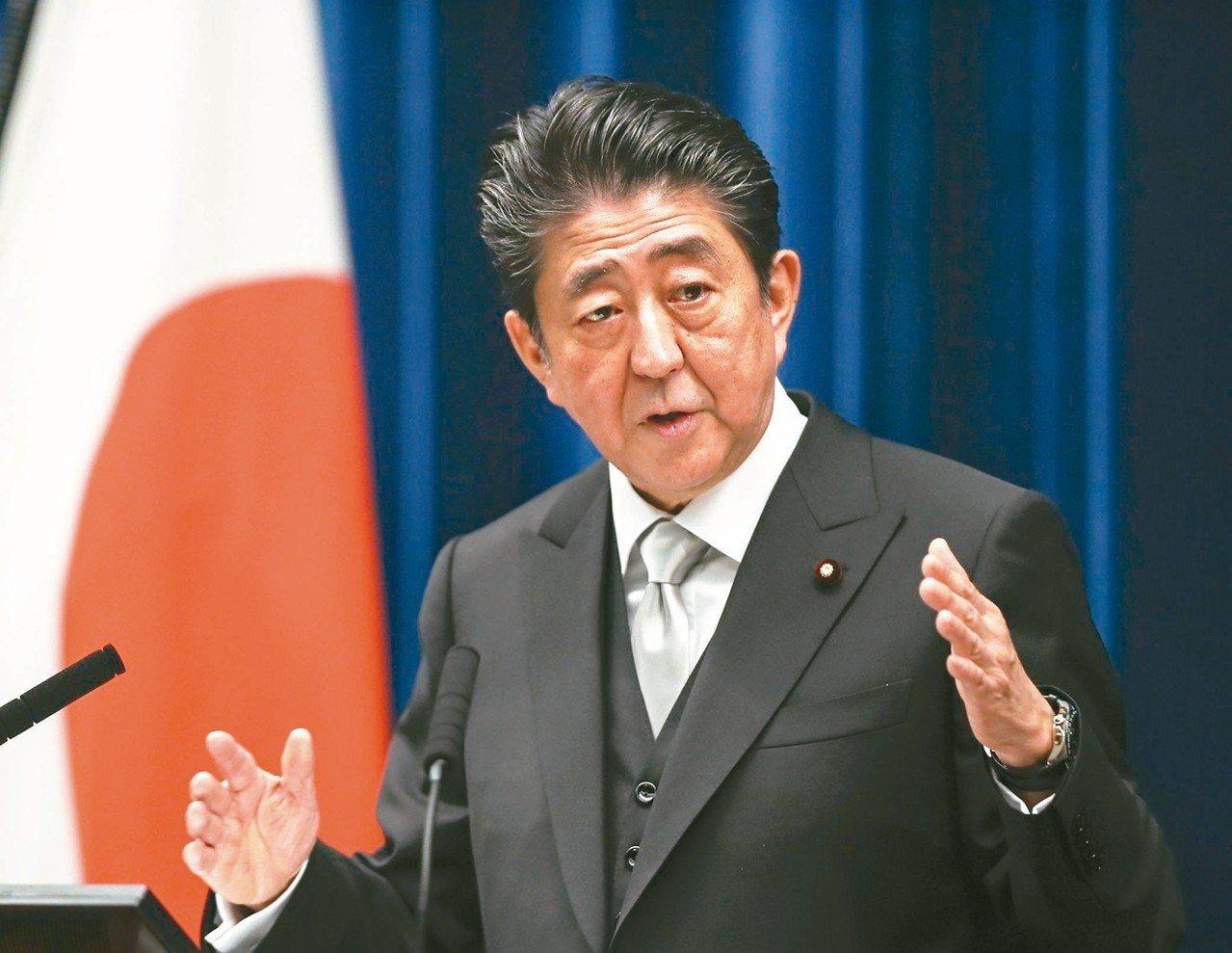 川普廿六日將與日本首相安倍晉三(見圖)球敘,並欣賞相撲冠軍賽。 (歐新社)