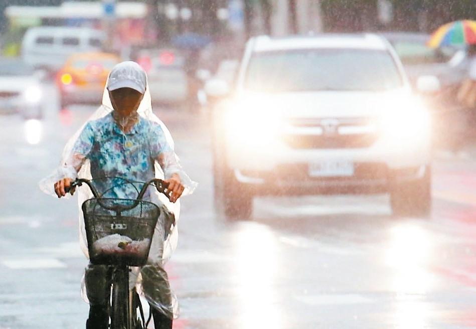 今日新竹至嘉義地區及新北市、桃園、宜蘭、花蓮、南部山區有局部大雨發生的機率。 圖...