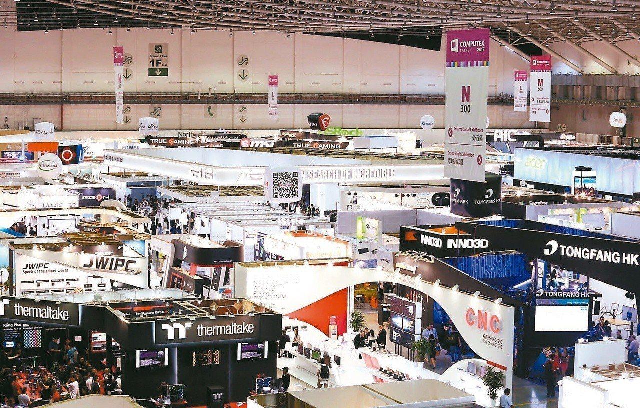 一年一度科技業盛會「台北國際電腦展」(COMPUTEX)周二開跑。圖為台北國際電...