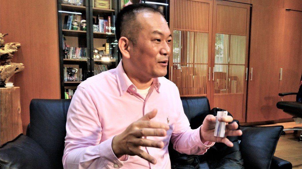 台中市健豪印刷公司總經理張訓嘉。 記者黃寅/攝影