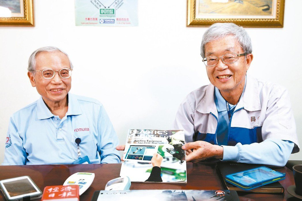 員全公司總裁劉兩全(右)與總經理高輝成 記者蘇健忠/攝影