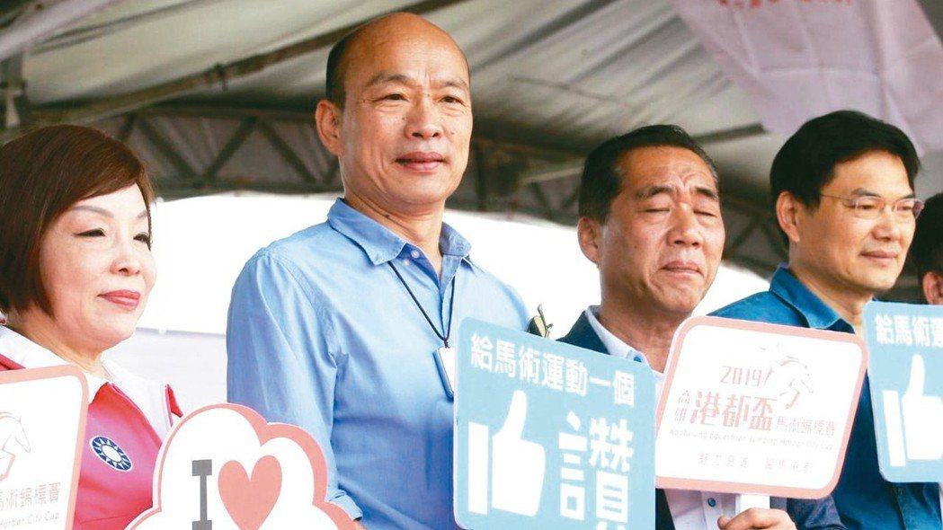 高雄市長韓國瑜網路聲量被蔡英文總統追上,負評超越正評。 報系資料照