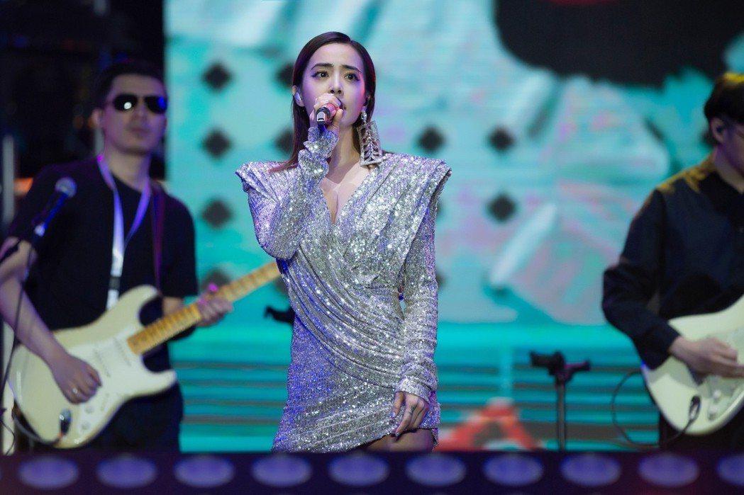 蔡依林參加麥田音樂節演出。 圖/擷自蔡依林工作室微博
