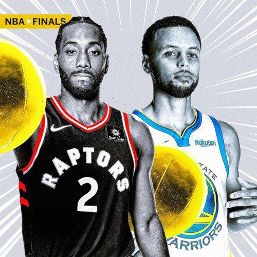 暴龍將在決賽面對尋求3連霸的勇士。 截圖自NBA ON ESPN官方推特