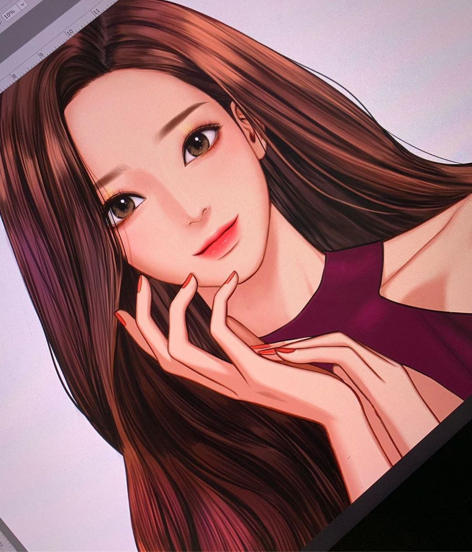 網路漫畫《女神降臨》深受網友喜愛。 圖/擷自IG