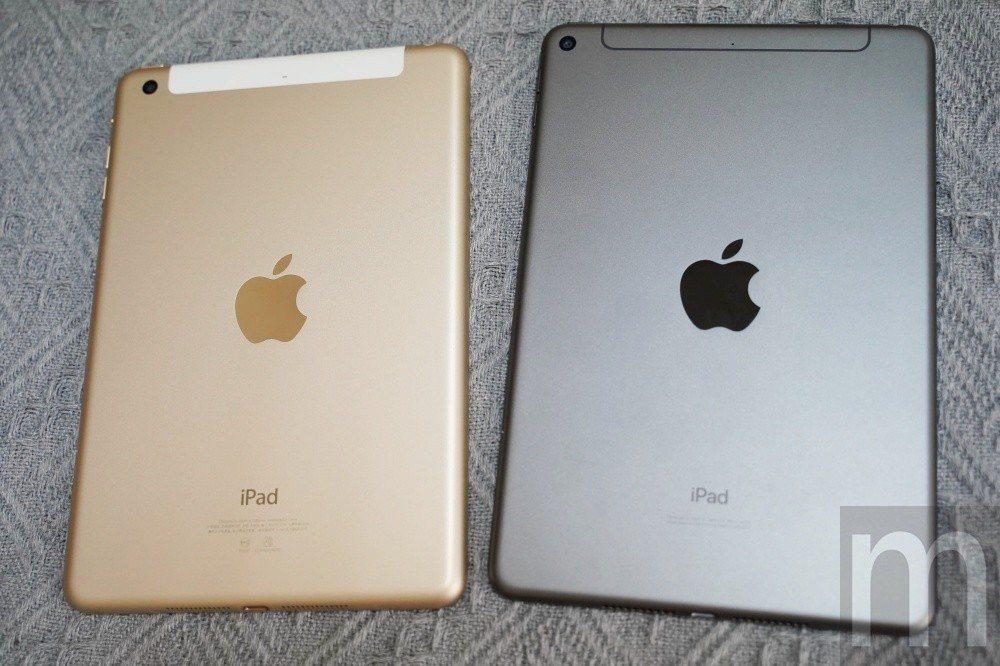 2019年款iPad mini與舊款iPad mini比較