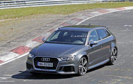 大改款Audi RS3紐伯林賽道測試捕獲 上看420匹馬力!