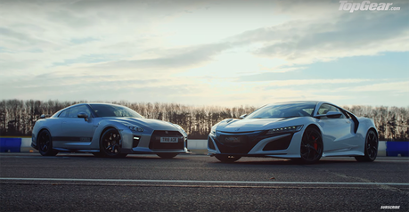影/原廠Honda NSX單挑改裝哥吉拉GT-R! 60匹馬力的差距!