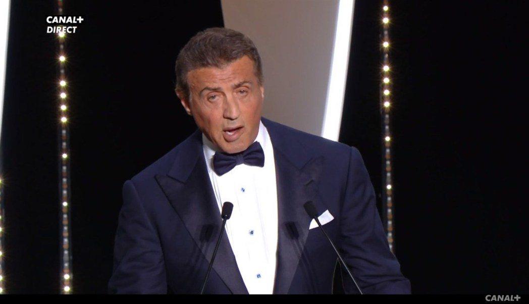 席維斯史特龍擔任第72屆坎城影展頒獎人之一。圖/翻攝自Dailymotion