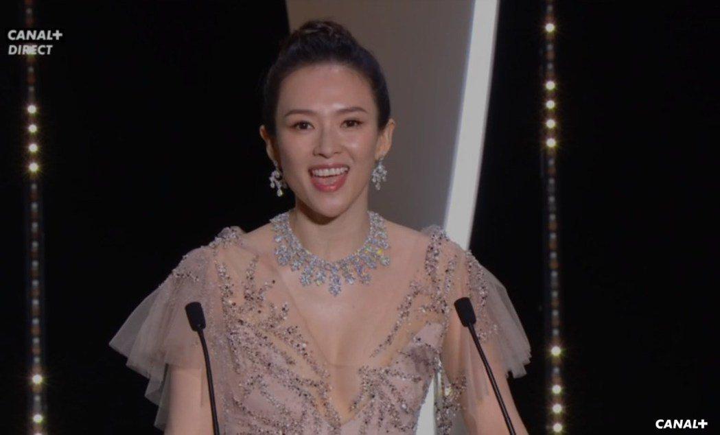章子怡擔任第72屆坎城影展頒獎人之一。圖/翻攝自Dailymotion