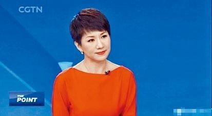 央視旗下中國環球電視網女主播劉欣。香港星島日報