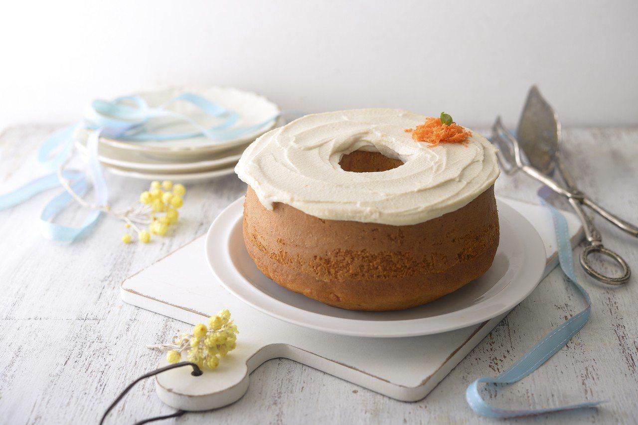 紅蘿蔔戚風蛋糕。圖/帕斯頓提供