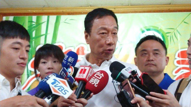郭台銘嗆蔡英文,只會拼選舉,不會拼經濟。 記者卜敏正/攝影