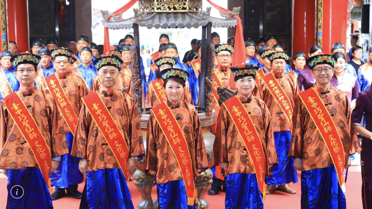 東勢巧聖仙師廟舉辦魯班公2526誔辰祭典。記者陳秋雲/攝影