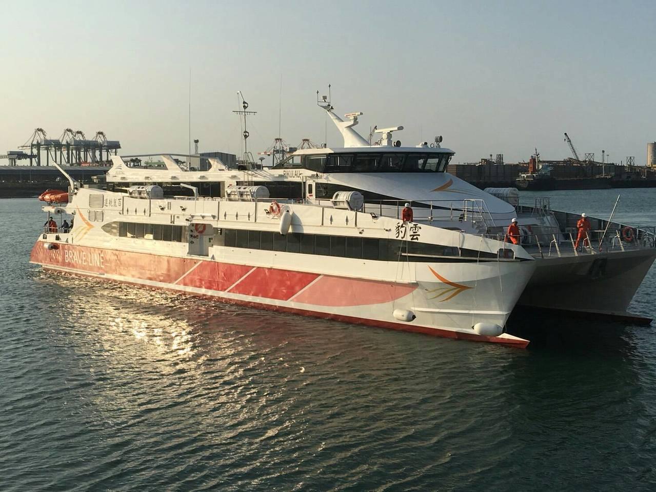 兩年多陸客來台人數都是縮減,但台北港-平潭的海運航線卻是一枝獨秀,旅客量連年成長...