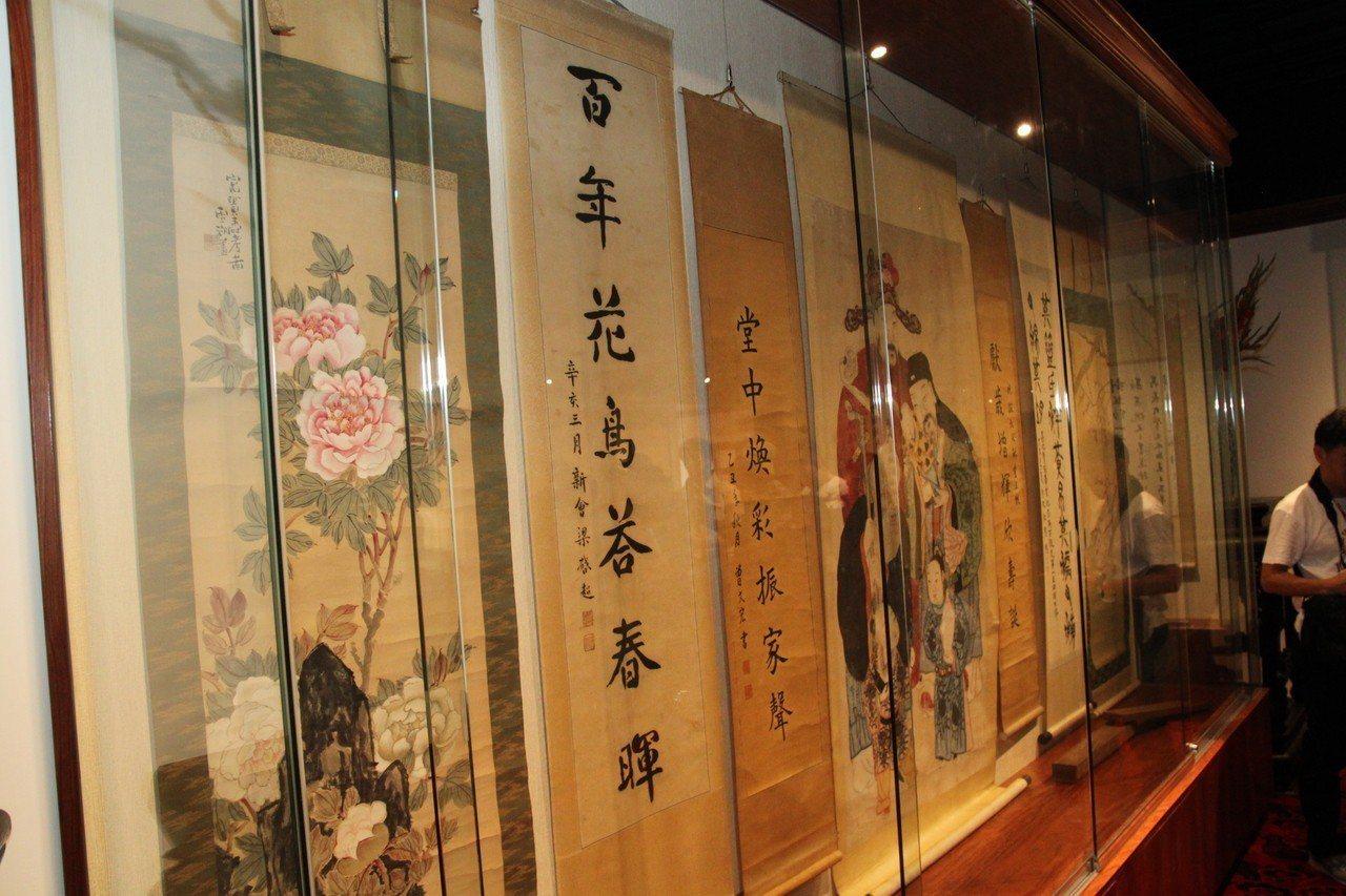 霧峰林家花園林獻堂博物館內可看到梁啟超贈送給林獻堂的書法。記者黃寅/攝影