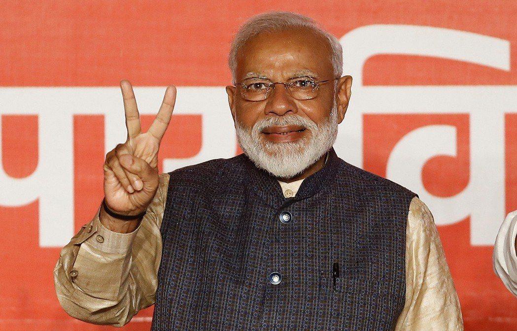 印度總理莫迪連任成功,將展開下一個五年任期。路透