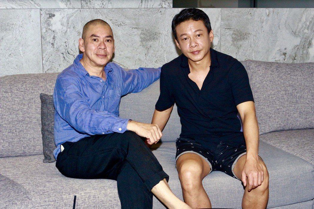 蔡明亮、李康生接受「娛樂鄉民」主持人鄭偉柏、瑪麗的專訪。圖/Win TV提供