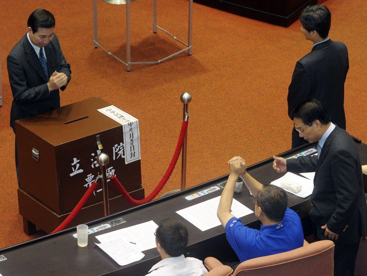 立法院在2011年6月行使大法官被提名人同意權投票。圖/聯合報系資料照