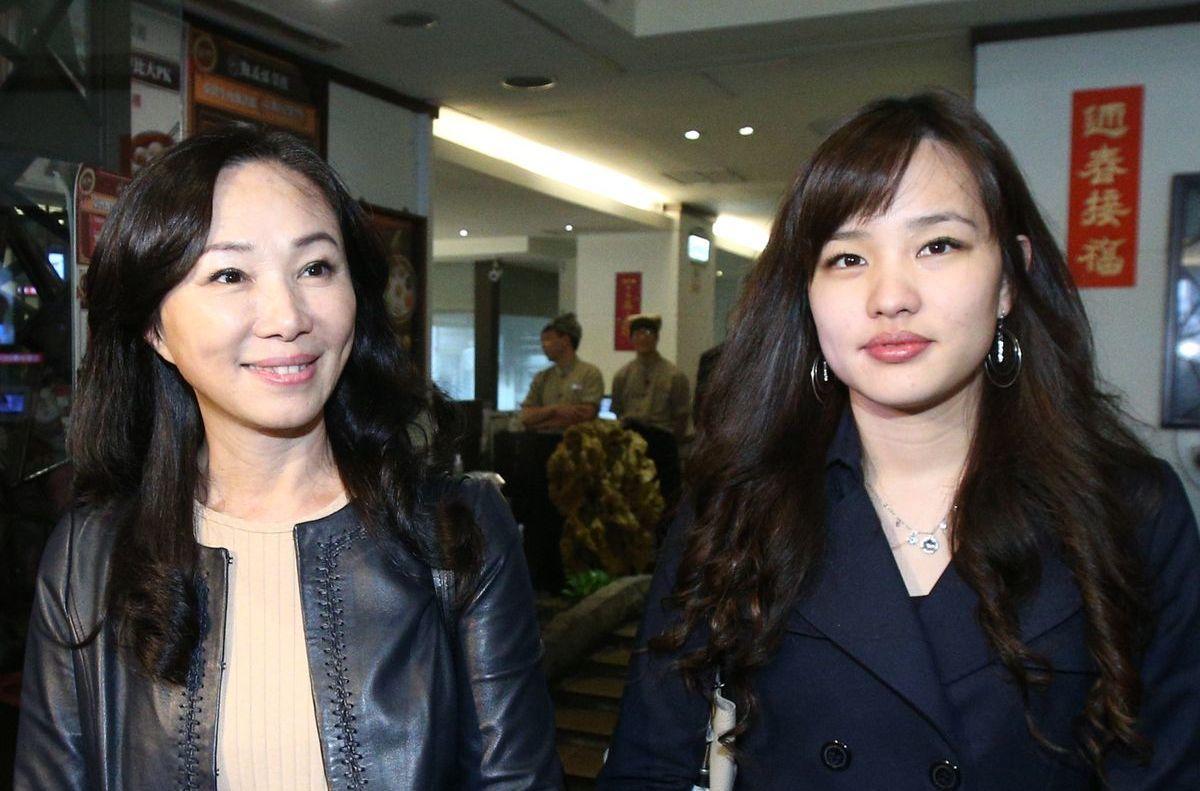 李佳芬與女兒韓冰。圖/聯合報系資料照片