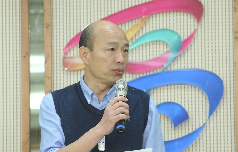 韓國瑜日前發表是否參選2020總統五點聲明。記者劉學聖/攝影