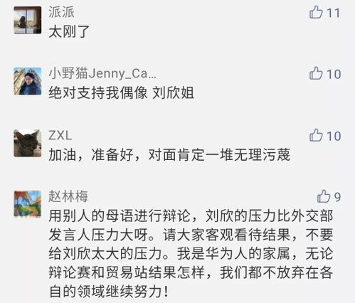 大陸網友留言,許多都是力挺劉欣。 圖/取自微博