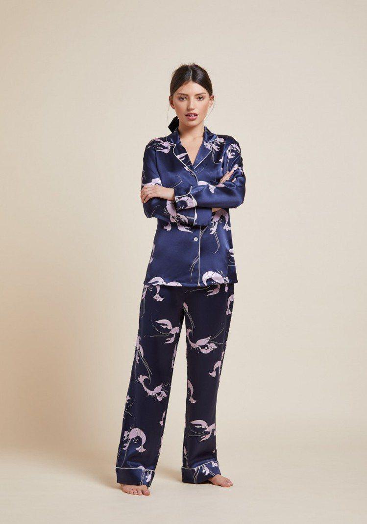 來自英國的頂級睡衣品牌Olivia von Halle以絲綢款式聞名,一件就要價...