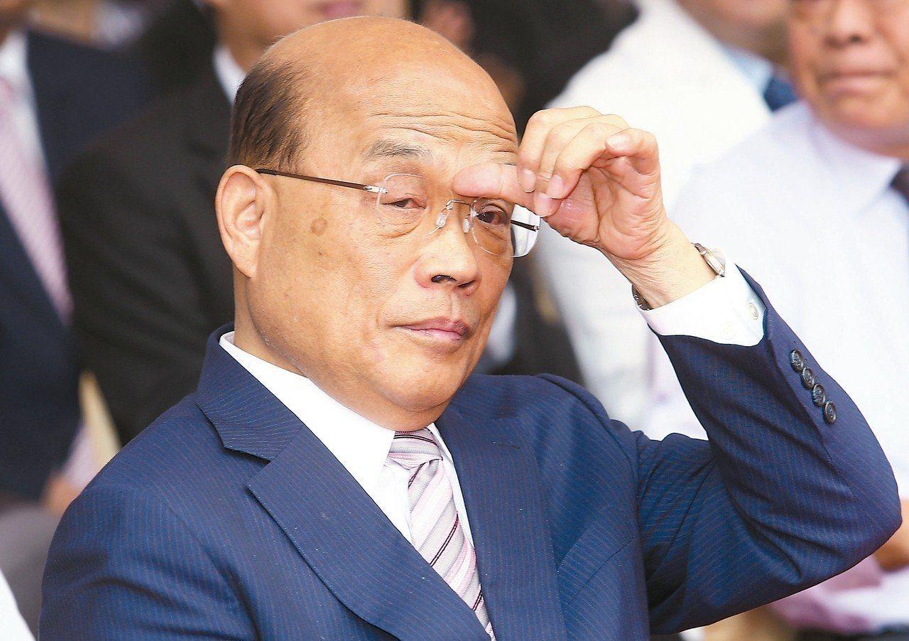 行政院長蘇貞昌。 聯合報系資料照/記者黃瑜萱攝影