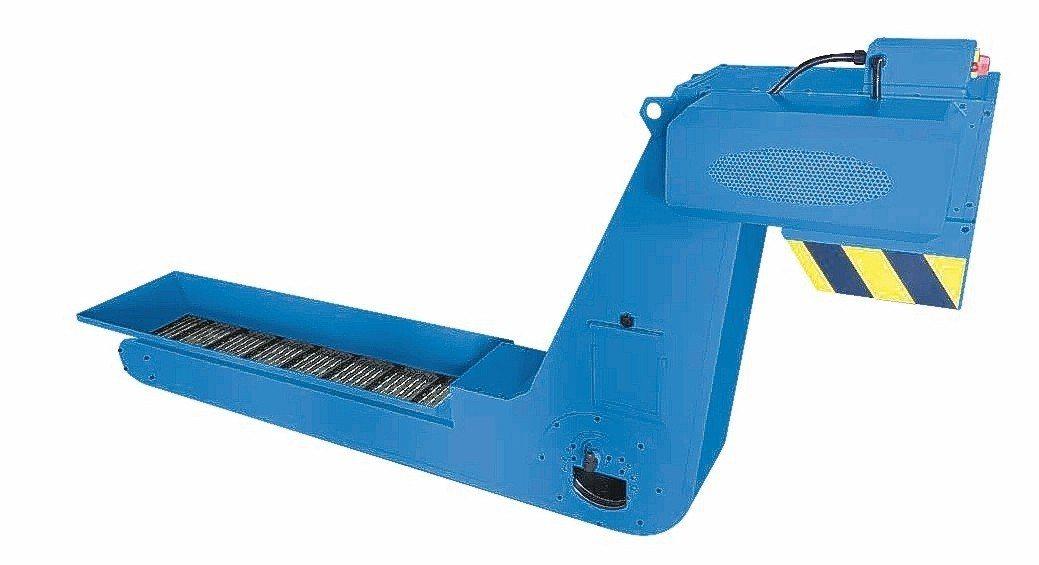 逢吉研發成功新一代鏈板滾筒式排屑機供應業界。 魯修斌/攝影