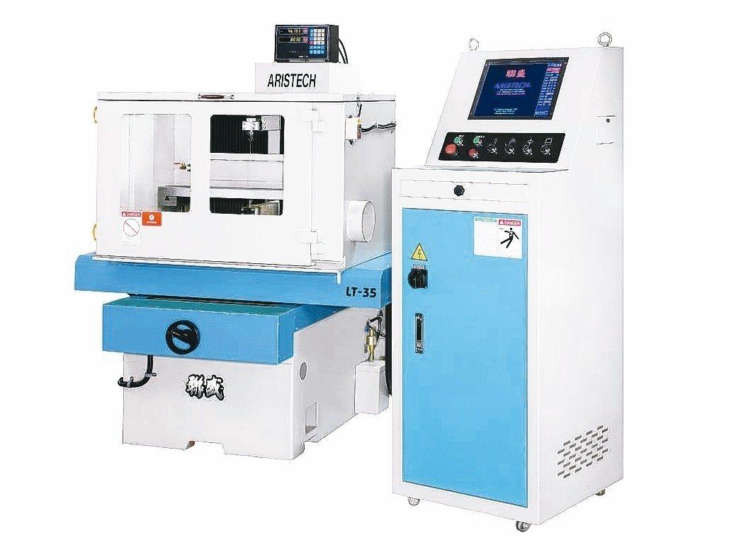 聯盛機電開發成功新一代LT-35非金屬線切割機。 聯盛機電/提供