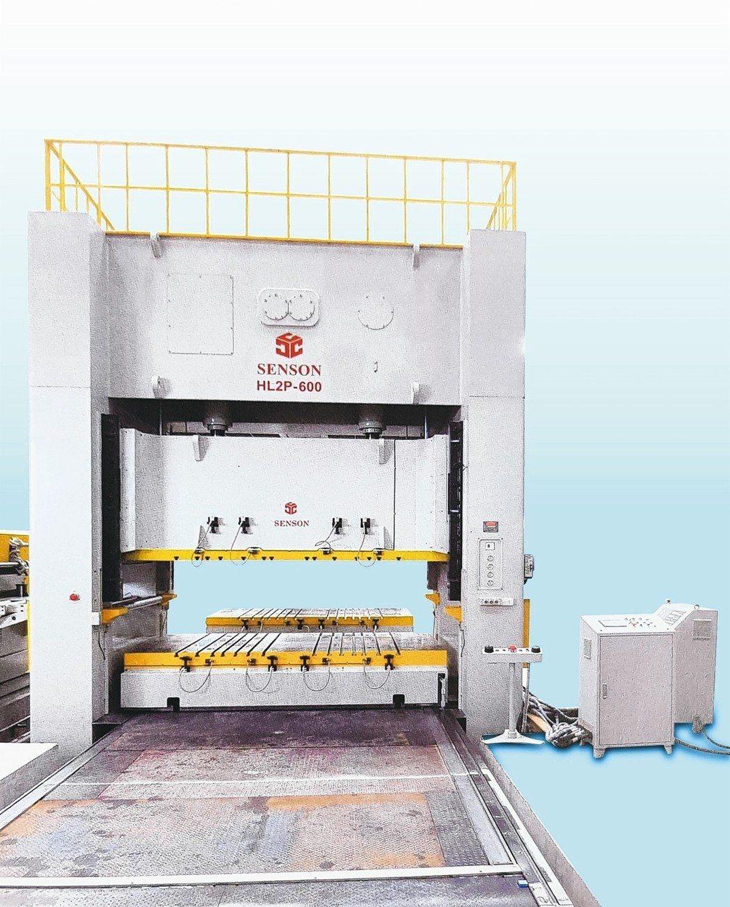 千昌機械產製HL2P-200至1200 TONS門型雙軸連桿式精密沖床。 千昌機...