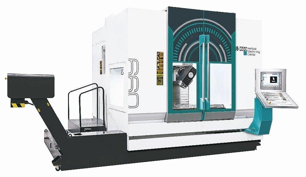 友嘉集團開發成功UB-660擺頭式五軸加工機。 友嘉集團/提供
