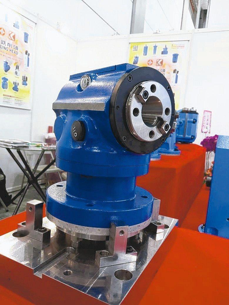 凱程功陽新推出迷你五軸加工銑頭。 凱程功陽公司/提供