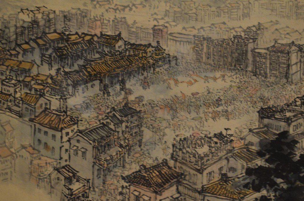 北港朝天宮前進香人潮鬧熱滾滾。  陳慧明 攝影