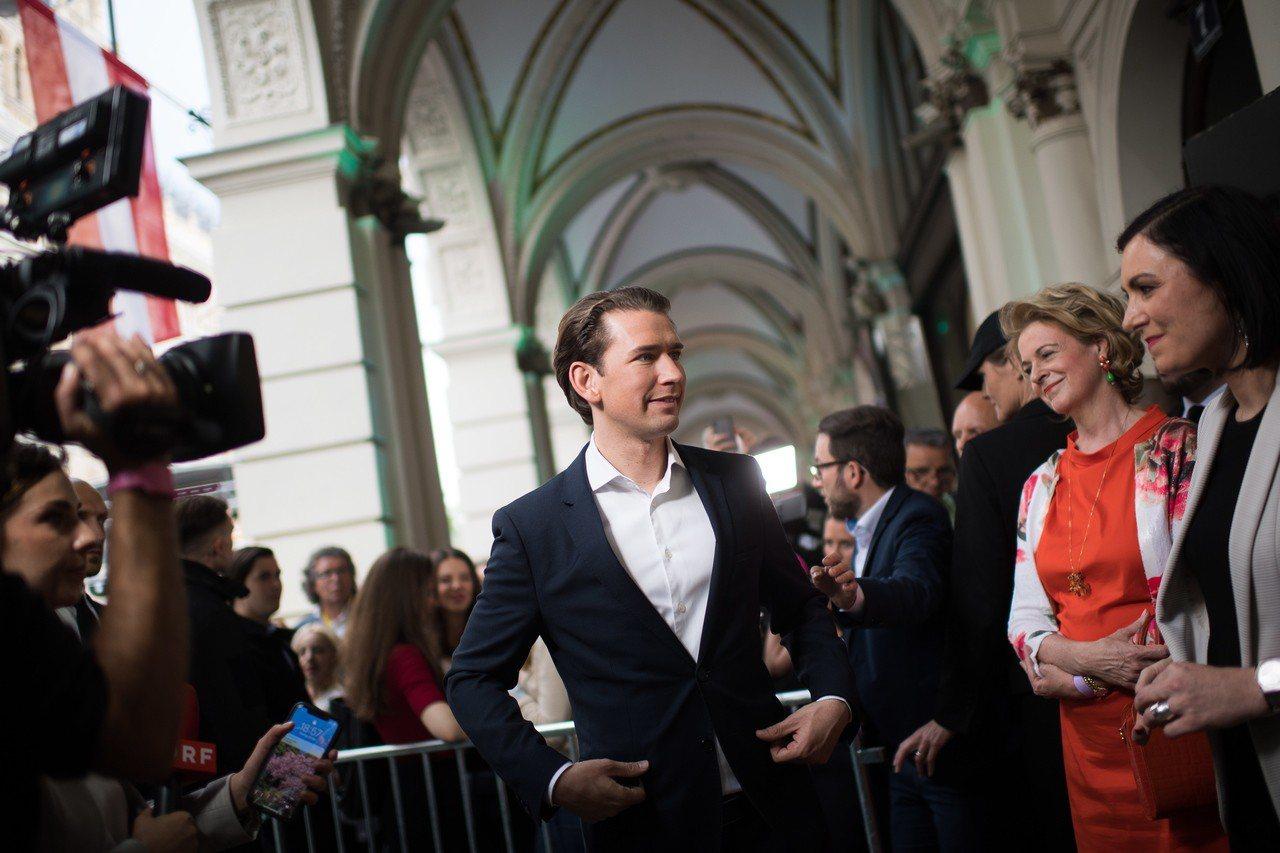 奧地利總理庫爾茨。歐新社
