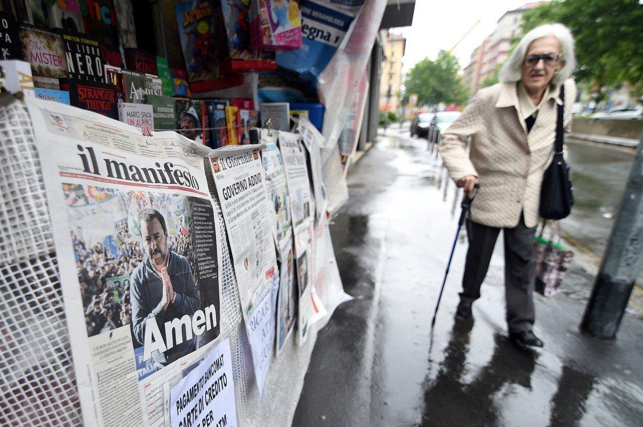 義大利走極右民粹路線的聯盟黨(League)在歐洲議會選舉勝出。 路透社