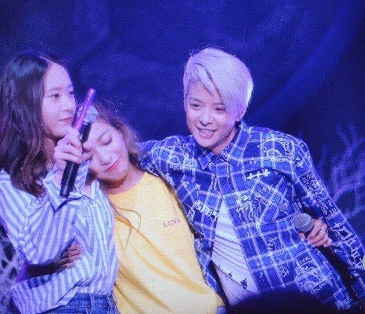 (左起)Krystal、Luna、Amber。圖/擷自instagram