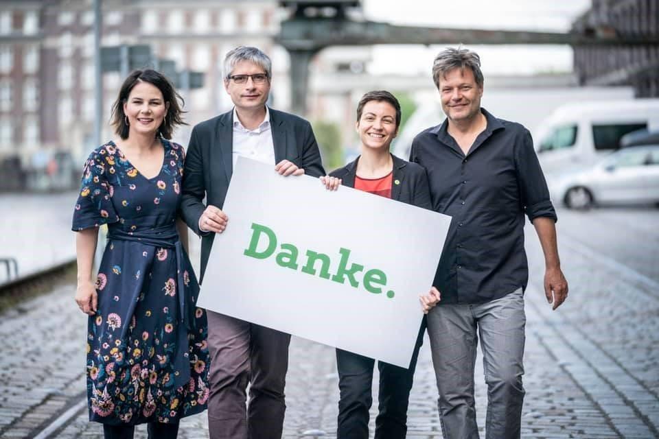 歐洲議會選舉出口民調顯示,德國綠黨躍升第2,僅次於總理梅克爾所屬的保守派基督教民...
