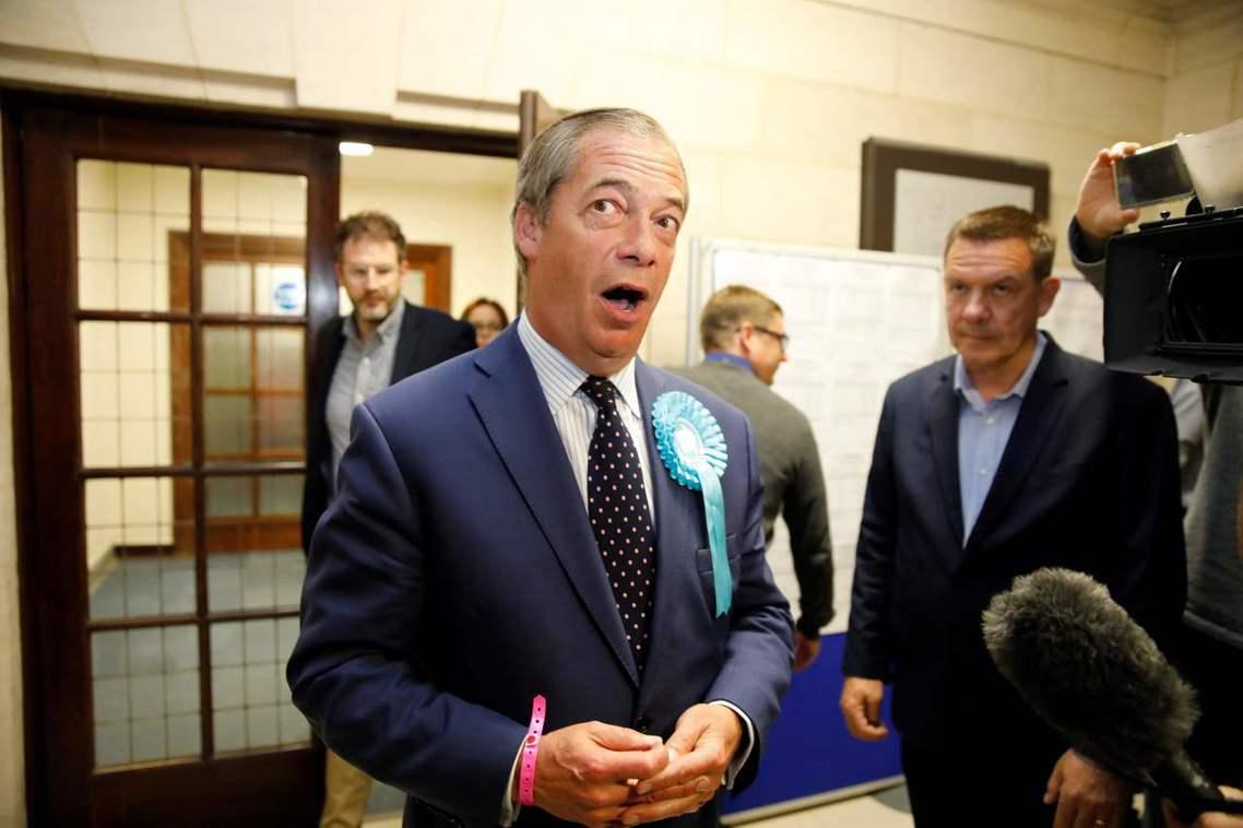 2019年才創立的「脫歐黨」,是著名但極具爭議的英國「脫歐戰將」法拉吉(Nige...