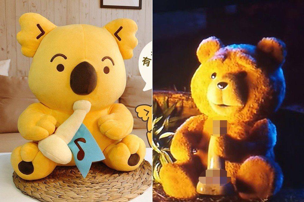 樂X小熊 vs. 熊麻吉。 圖片來源/樂X小熊餅乾粉專、電影《熊麻吉》