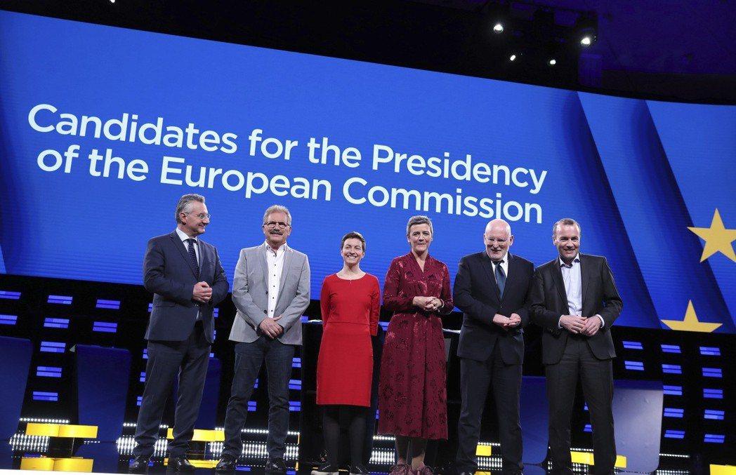 來自德國的EPP主席,韋柏(Manfred Weber,最右),是逐鹿大位的最強...