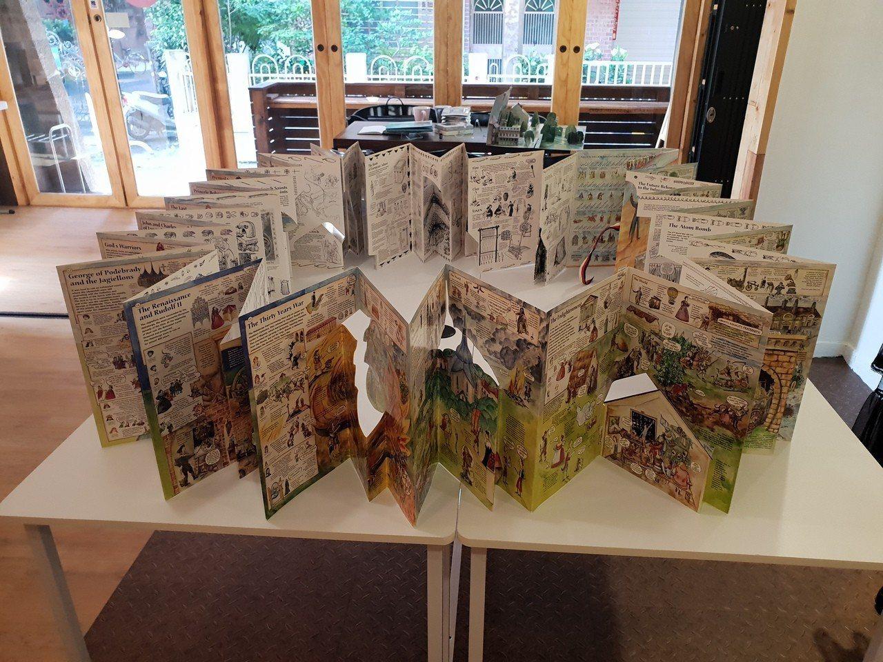 「We Do有度立體實驗室」主要展示店主文自秀的立體書收藏,圖為捷克製作的捷克歷...