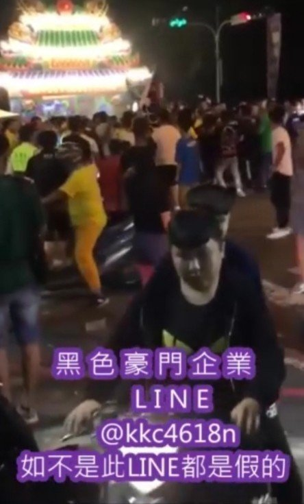 台中市后里區昨晚廟會有口角糾紛。圖/取自臉書黑色豪門企業