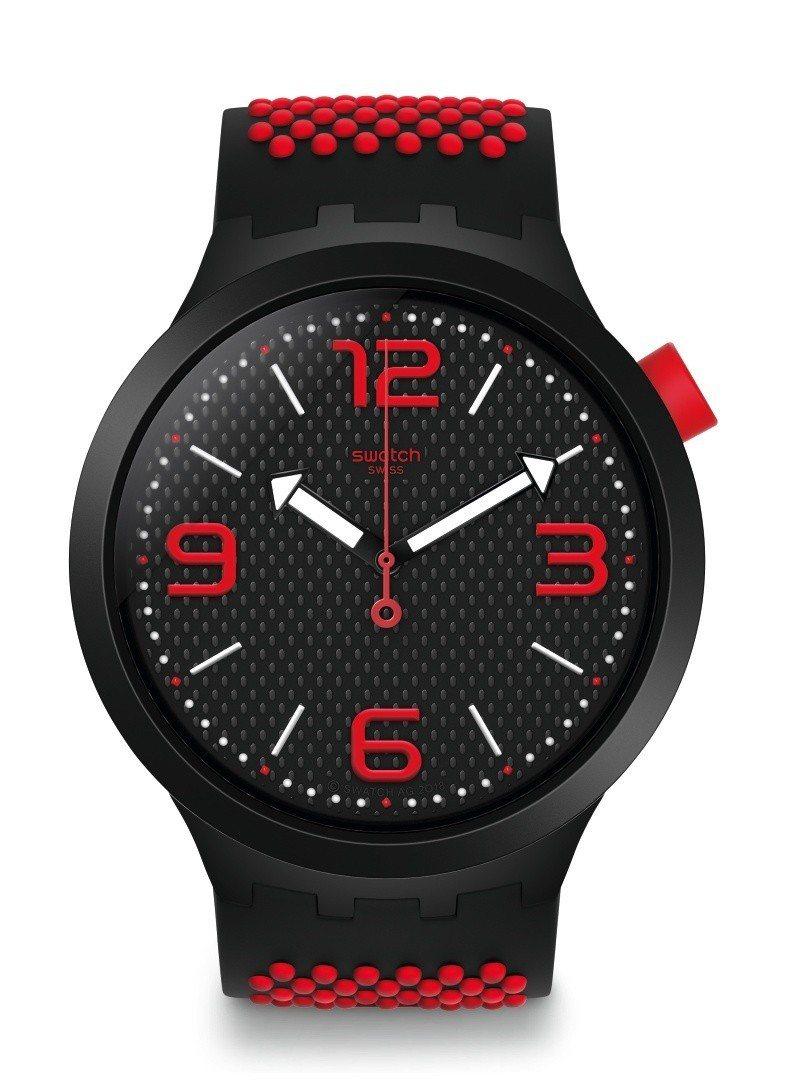 SWATCH Big Bold系列烈焰紅腕表,3,150元。圖/SWATCH提供
