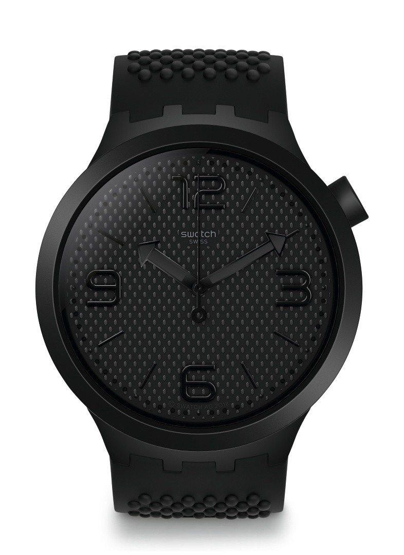 SWATCH Big Bold系列暗夜黑腕表,3,150元。圖/SWATCH提供