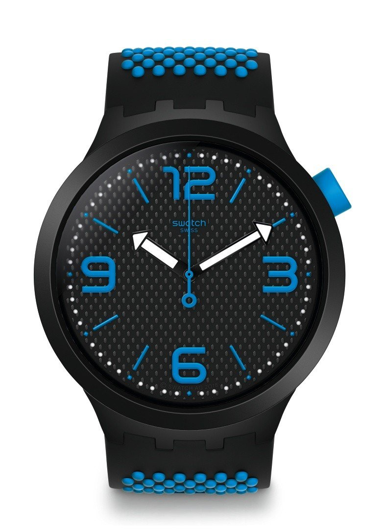 SWATCH Big Bold系列炫彩藍腕表,3,150元。圖/SWATCH提供