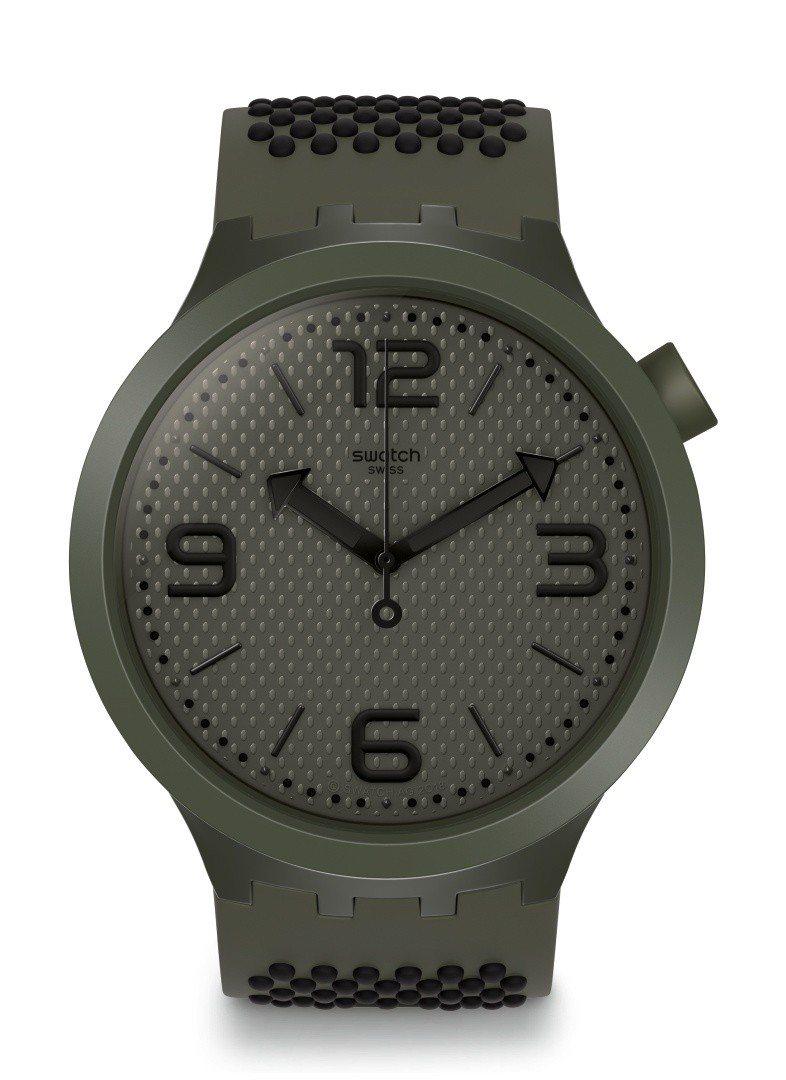 SWATCH Big Bold系列軍裝綠腕表,3,150元。圖/SWATCH提供