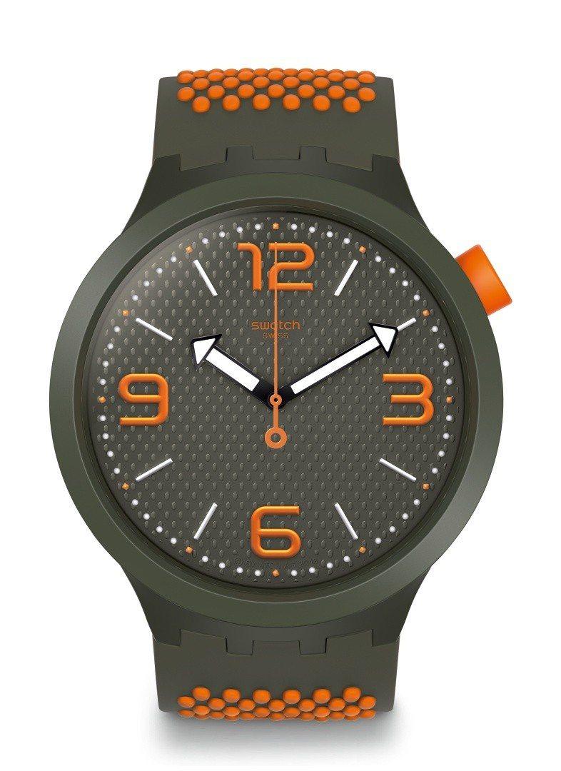 SWATCH Big Bold系列性格橙腕表,3,150元。圖/SWATCH提供